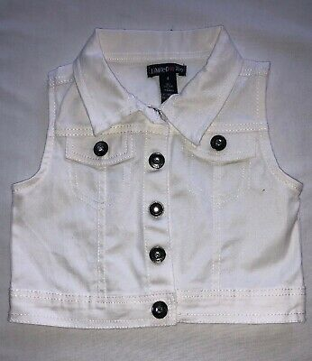 Limited Too Size 4 Girls White Vest Youth Kids Sleeveless Spring Summer Clothes