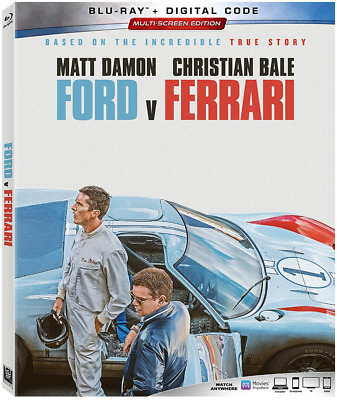 Ford v Ferrari (Blu-ray, 2020) New, Sealed