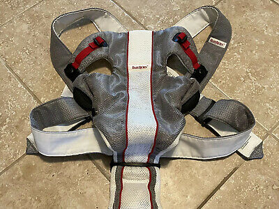 Baby Bjorn Baby Carrier Mesh One Air White Gray Red  BabyBjorn 0+ 8-25 lbs