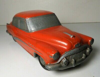 Vintage Banthrico Autobank Red Buick Roadmaster Cast Metal Promo Car Bank