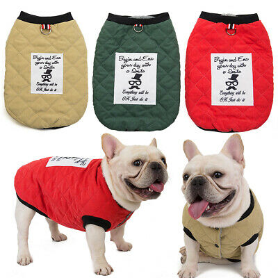 Pet Clothes Cats Dogs Vests Button Coats Puppy Jackets Pet Costume Winter Warm