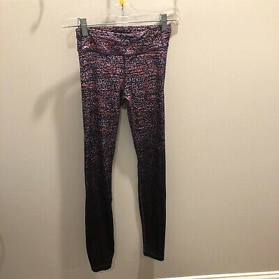 Athleta Girl Chit Chat Tight Leggings Pants Girls Size Large L / 12 Purple Ombre