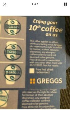 ☆GREGGS☆ 20 Full Cards, Stamped With  NEW Blue Stamp RECORDED DELIVERY