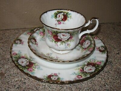 Royal Albert Celebration- Tea Cup Saucer Plate- Bone China England- Gold Rimmed