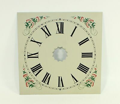 "Clock Dial- 9-1/2"" Square Painted Metal - Vintage - Replacement - Gg289"