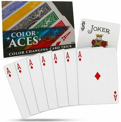 Magic Makers Color Aces Card Magic Trick with Online Magic Training