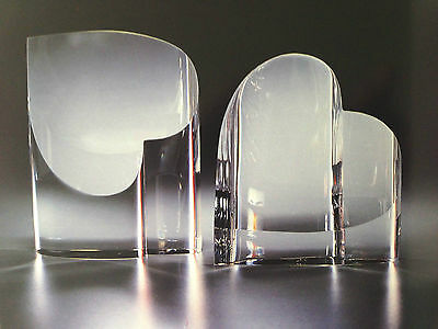 NEW in BOX Art Glass STEUBEN HEARTS Lovely Crystal Perfect Cupid Sculpture Gift