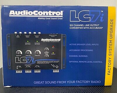 AudioControl LC7i 6-Channel Line Output Converter with AccuBASS - NEW! FAST!