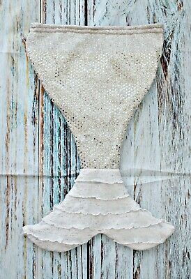 New Sparkly Infant Mermaid Tail Blanket Sequins Soft Fleece Bag Wrap Photo's!