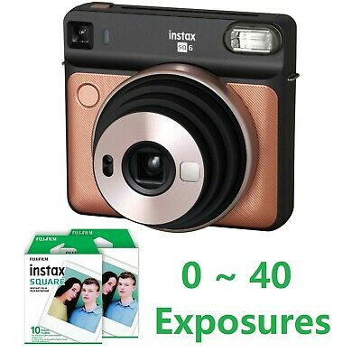 Fujifilm Instax Square SQ6 Instant Film Camera Blush Gold + Optional 10-40 Films