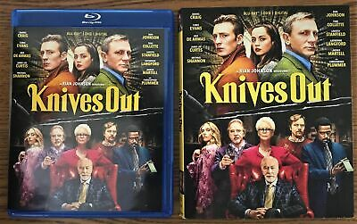 Knives Out 2019 BLURAY ONLY+CASE + ARTWORK+SLIPCOVER (NO DVD OR DIGITAL CODE)
