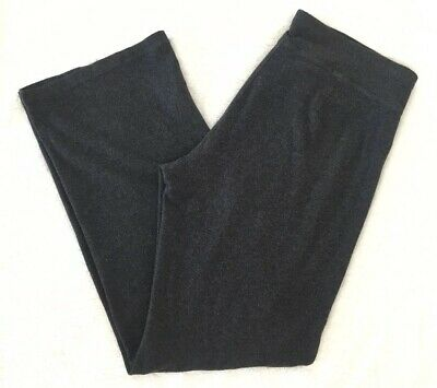 EILEEN FISHER Dark Gray Heathered Lounge Pants Small Stretch