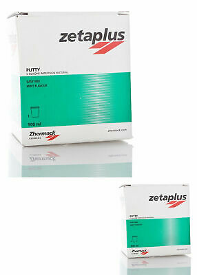 Dental Zhermack Zetaplus Putty CSilicone ImpressionMaterial Huge900ml Jar 1+1=2p