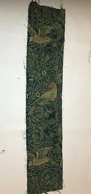 William Morris Bird Fabric Original Fragment C1880s Morris & Co (No2)