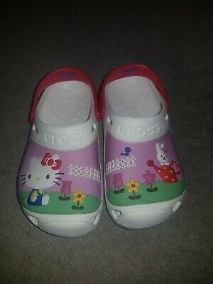 New Girls Hello Kitty Crocs sandals Size 1