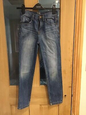 Boys Slim Fit Blue Jeans Age 10-11 Years Denim & Co Good Condition