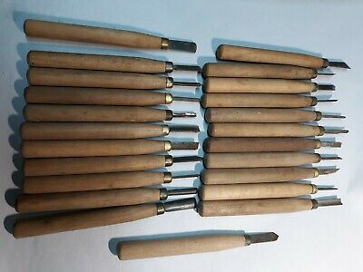 large lot of wood carving tools 23 pieces