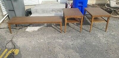 Vintage Mid-Century Danish Modern MersmanStyle Coffee Table & End Tables Set