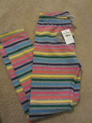 NWT Hanna Andersson Girl 6-7 Leggings Multi Color Stripes