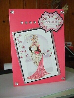 Classy  A5  Handmade Art Deco To The Best Friend Anyone Can Wish For Card