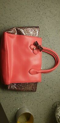Girls Sparkly Pink Hand Bag