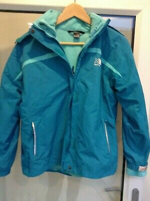 Karrimor Unisex Child's Ski Jacket With Fleece Inner,  Blue Age 13 Vgc