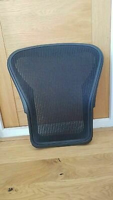 Used Black Herman Miller Aeron Chair Size B Back Frame & Mesh
