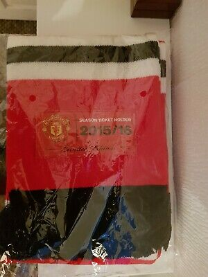 Official Manchester United Season Ticket 2015 / 2016 Ltd Edition Football Scarf