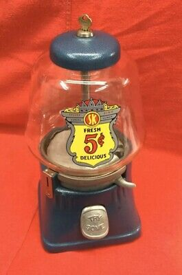 Silver King Gumball Machine 5 Cent Peanut 1940's Vending
