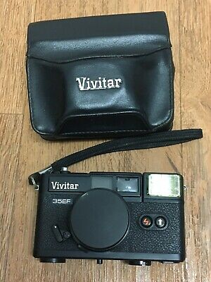 Vivitar 35EF Camera With Lens Cover And Case Vintage
