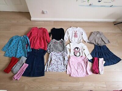 3-4 Girls Bundle Skirts Tops, Dresses, Tights. Mainly Next and Marks and Spencer