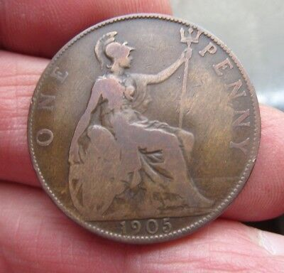 1905 One Penny King Edward Vii th