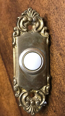 Antique Ornate Victorian Solid Brass Door Bell Archetechtural Salvage