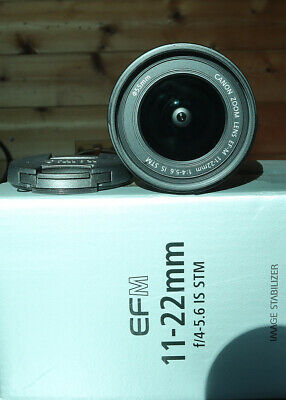 Canon EF-M 11-22mm f/4-5.6 IS STM Lens - Black. Excellent Condition, Hardly Used