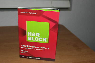 H&R Block Small Business Owners Premium & Business Tax Software 2019 (PC)