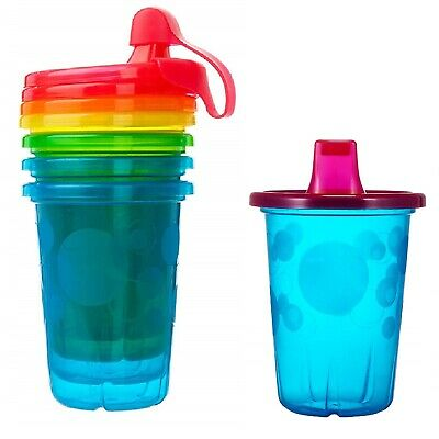 4-Pack 10 Ounce Take & Toss Spill-Proof Food Grade BPA Free Kids Sippy Cups Mugs