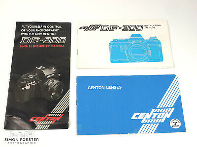 Centon DF-300 Instructions with Brochure and Lens Information