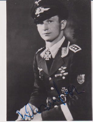 Signed photo Stuka pilot Oberfeldwebel Alois Wosnitza - Knights Cross recipient