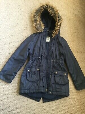 girls navy coat marks and spencer age 9-10 years