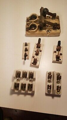 Vintage Porcelain Electric Knife Switches, And Fuse Holders