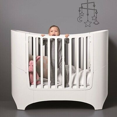 White Leander Baby Cot and Toddler Bed