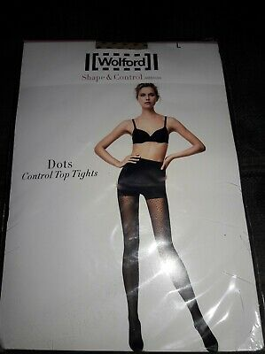 Wolford Dots Control Top Tights L Shape n Control pantyhose tights stockings NEW