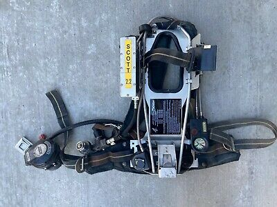 Scott 2.2 AP50 SCBA Air Pack VIBRALERT EZ-FLO Reg HUD UAC/RIT Connection Air Pak
