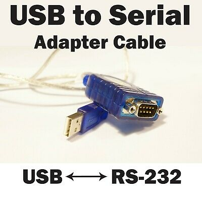 Plugable USB to Serial Cable Adapter - RS-232DB9 Pin Male Connector