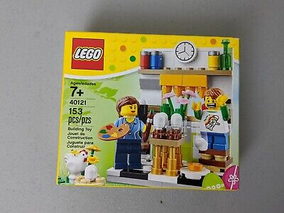 LEGO 40121 New Easter Egg Painting 153 pcs Mini Figures Chicken Paint Sealed