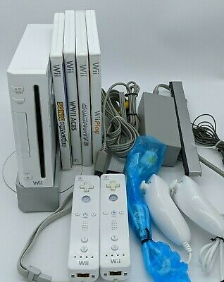 Nintendo Wii System Console RVL-001 Controller Cords Games Complete Tested Works