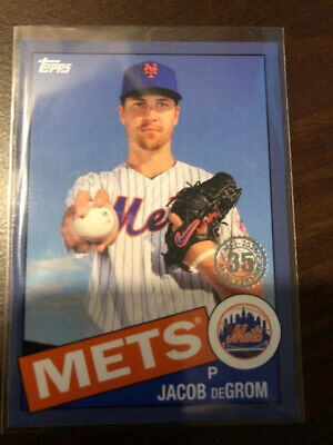 2020 Topps Series 1 1985 Blue parallel Jacob deGrom Mets 85-66 Rare!