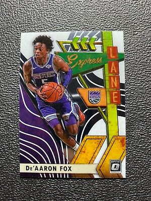 2019-20 Panini NBA Optic Express Lane Insert 19 De'Arron Fox Kings