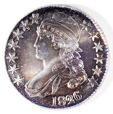 1826 Capped Bust Half Dollar high grade cleaned
