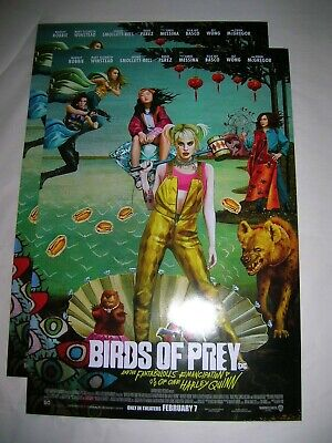 new Harley Quinn:  Birds of Prey movie poster 11x17 official promo DC Comics